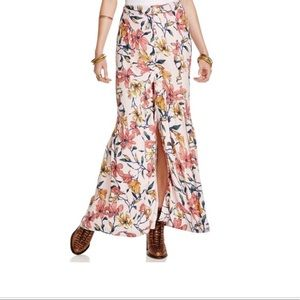 Free People Smooth Sailing Floral Maxi Skirt